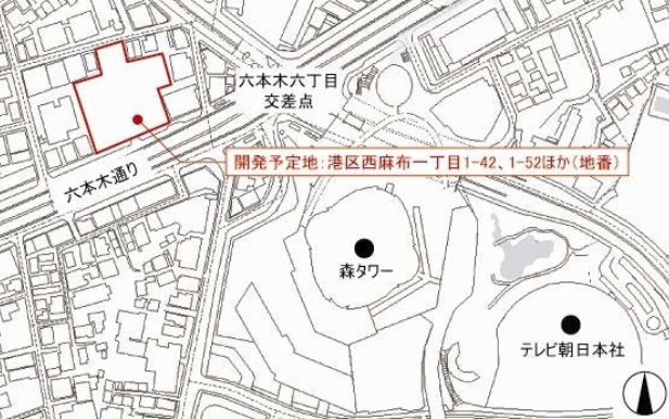 EX THEATER ROPPONGI地図